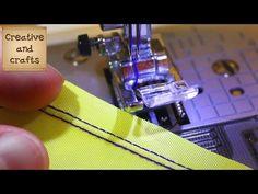 ● Как шить ДВОЙНОЙ ИГЛОЙ - прямая строчка (Машинные строчки) - YouTube