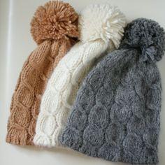 Gray knit hat, Pom pom beanie woman, Cable knit  hat, Bobble hat, Alpaca Merino wool beanie, Soft knit grey hat - pinned by pin4etsy.com