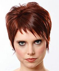 short spiky straight hairstyles | Salon Hairstyle: Casual Short Straight Hairstyle color design, pixie ...