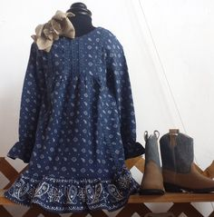 Pair this dress with our burlap bows and denim / suede boots and you've got one adorable little cowgirl!