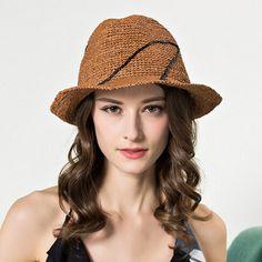 Embroidered panama hat for women straw sun hat beach wear