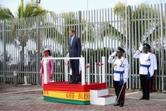 Prince Harry Photos Photos - Prince Harry reviews a guard of honour as he arrives into St Georges on the ninth day of an official visit to the Caribbean on November 28, 2016 in St Georges, Grenada. Prince Harry's visit to The Caribbean marks the 35th Anniversary of Independence in Antigua and Barbuda and the 50th Anniversary of Independence in Barbados and Guyana. - Prince Harry Visits The Caribbean - Day 9