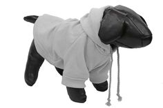 Fashion Plush Cotton Pet Pet Hoodie Hooded Sweater - Grey (HD1GY~SM)