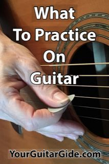 Do you ever find yourself wondering What to Practice on Guitar? Take a look at these Tips to help you figure out what you should be practicing. Get a Free PDF too. : guitar What to Practice on Guitar? Music Theory Guitar, Easy Guitar Songs, Guitar Chords For Songs, Guitar Sheet Music, Guitar Tips, Guitar Books, Guitar Chord Chart, Jazz Guitar, Guitar Solo