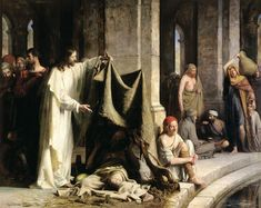 I have this beautiful print on my dining room wall.  'Christ at the Pool of Bethesda' by Carl Bloch (one of my favorite artists of the Savior)