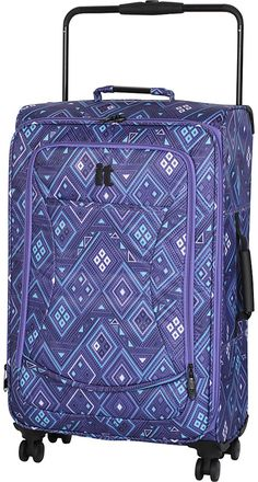 it luggage World's Lightest 28.9' 8 Wheel Spinner Blue/Mint Aztec Print - it luggage Large Rolling L