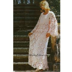 Crochet Dress Pattern PDF 139 Vintage Evening Dress from WonkyZebra