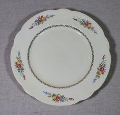 "Vintage Homer Laughlin Floral Flowers Roses 2 Dinner Plates Dishes 1942 10 1/4"" #HomerLaughlin"
