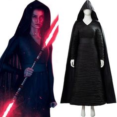 Star Wars: The Rise of Skywalker Dark Side Rey Cosplay Costume Material: Foster cloth, leather artificial Including: Cape, dress, belt Rey Cosplay, Cosplay Outfits, Cosplay Costumes, Diy Costumes, Vampire Costumes, Cosplay Diy, Pirate Costumes, Movie Costumes, Cosplay Ideas