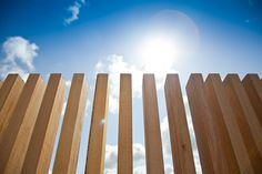 Timber fence...