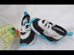 Tenis Nike para bebé en crochet paso a paso en Español