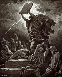 Moses Breaking The Tablets Of The Law by Gustave Dore