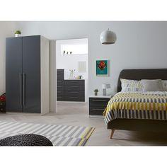 Buy House by John Lewis Mix it Block Handle Bedroom Range, Gloss House Steel/White   John Lewis