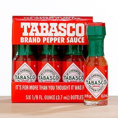 gotta have on hand to spice up Bloody Marys from our bar!  Mini Tabasco 6-Pack | World Market
