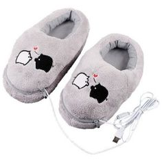 USB heated slippers