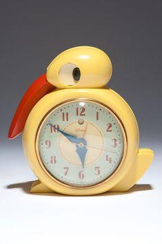 "Telechron ""Quacker"" Plaskon Bird Electric Alarm Clock by Belle Kogan | Clocks | Decophobia | 20th Century Design"