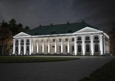Projekt iluminacji zabytkowego pałacu w Kikole. Illumination design of historic Kikół Palace.