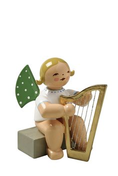Angel Orchestra Musician with Harp