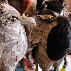 Tuesday mood. Courtesy of @annwood #Handmade #Design #love #FolkArt #Owls #Fortuny