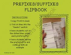 Prefixes & Suffixes Flipbook from Sparkling in Second on TeachersNotebook.com -  (4 pages)  - Prefixes & Suffixes Flipbook