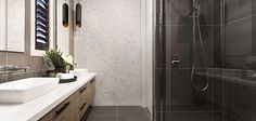 Urban Organic Style - Explore this Design Bathroom Inspiration, Interior Design Inspiration, Bathroom Ideas, Bathroom Designs, Home Interior, Interior And Exterior, Marble Herringbone Tile, New Home Designs, Finding A House