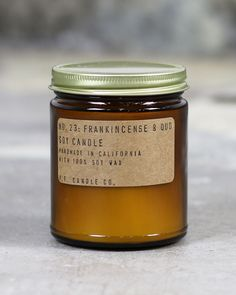 frankincense & oud // candle
