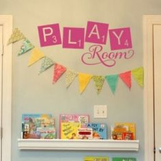 Play room for Scrabble lovers