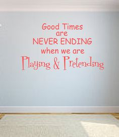 Playroom Vinyl Lettering Wall Decal