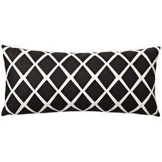 Serena & Lily Diamond Lumbar Pillow Cover – Black