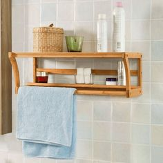 Tidy Bathroom Wood Shelves for Wall — House Decorations Wall Mounted Wood Shelves, Wooden Bathroom Shelves, Wall Mounted Towel Holder, Bathroom Towel Rails, Towel Holder Bathroom, Floating Wall Shelves, Wood Bathroom, Wooden Walls, Wood Shelf