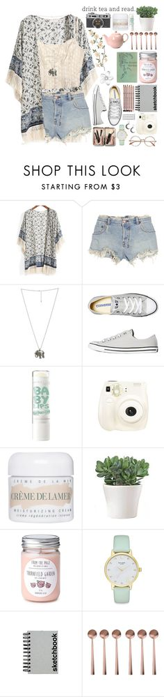 """Hold me close, don't let go. Watch me..."" by indie-by-heart ❤ liked on Polyvore featuring Ksubi, London Pottery, Wet Seal, Converse, La Mer, Kate Spade, Aveda, Paperchase, canvas and Bobbi Brown Cosmetics"