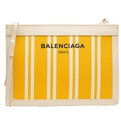 0e5dd04eb Balenciaga Navy Striped Canvas Clutch Navy Handbag featuring polyvore,  women's fashion, bags, handbags