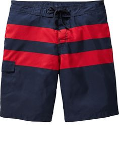 Men's Rugby-Stripe Board Shorts Product Image