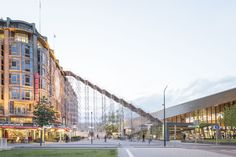 The installation and exhibitions will open until the 12th June 2016, from 10am to 10pm. The scaffolding structure, assembled by Dutch Steigers, will take visitors 29 metres up to the roof top of th…