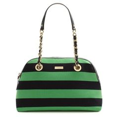 if you were a purse you would look like this Emerald/Kelly green striped Kate Spade bag.  Adorable.