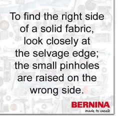 how to find right side of solid fabric