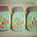 mason jar valentine cookies
