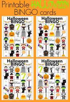 use these printable bingo cards for your halloween party its the perfect game for all