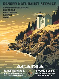 More retro National Park, see America posters