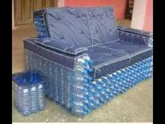 Sofa made from recycled plastic bottles | Best Amazing Creative ideas Plastic Bottle Sofa - YouTube