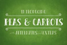 Peas & Carrots by Brittney Murphy Design on Creative Market
