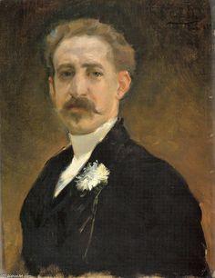 Emilio Sala Y Frances - Self Portrait - 1883. Retrieved from http://es.artsdot.com/@@/8YDRBJ-Emilio-Sala-Y-Frances-Retrato-de-Hombre on February 26, 2018. This is another self-portrait of a dandy artist of the time.