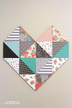 Geometric Heart using the Home+Made line by Jen Hadfield! SO cute!