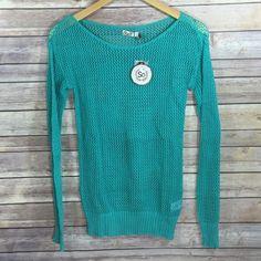 Green Crochet Top Green crochet long sleeve top. 60% Cotton 40% Acrylic. Tops