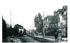 Worple Road Wimbledon with Tram Vintage Postcard/Photograph
