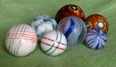 Antique marbles - Glazed China Carpet Balls, Benningtons, Tiny onionskin and German Ribbon core