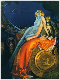 """Cleopatra By the great american art deco artist Rolf Armstrong """" Rolf Armstrong, Pin Up Vintage, Art Vintage, Pinup Art, Art Deco Paintings, Art Deco Artists, Art And Illustration, Vintage Illustrations, Pinturas Art Deco"""