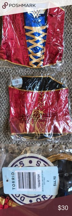 Torrid Wonder Woman corset Fun Wonder Woman lace-up back corset from Torrid - Never even removed from the bag! Comes with removable straps. Torrid size 2 torrid Other