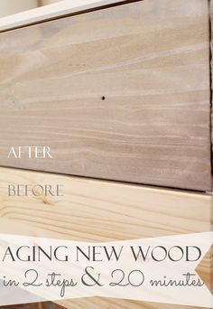 new wood look old and weathered in minutes! Just like drift wood. It only takes 2 stepsMake new wood look old and weathered in minutes! Just like drift wood. It only takes 2 steps Paint Furniture, Furniture Projects, Furniture Makeover, Wood Projects, Steel Furniture, Building Furniture, Distressed Furniture, Furniture Vintage, Furniture Stores