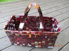 Paper Weaving, Recycled Crafts, Upcycle, Recycling, Crafty, Diy, Coffee Bags, Sachets, Chips